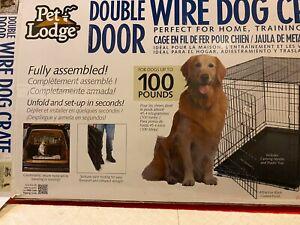 Pet Lodge XL Folding Dog Crate /Kennel 2 Door /Tray Pan 42 x 27 x 30