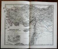 Ottoman Anatolia Asia Minor Black Sea Turkey in Asia 1875 Stieler map