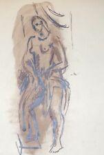 Dessin Original Encre NICOLAS WACKER (1897-1987) Peinture Russe Nus Feminin NW2