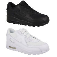 Nike Air Max 90 Leather Kids Trainers Boys Girls Kid Children Sports School Shoe