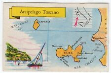 figurina SERIE ITALIA ISOLE PRINCIPALI LA FOLGORE N. 169 ARCIPELAGO TOSCANO REC