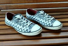 converse missoni chuck taylor exploded womens sz 8 grey white zig zag chevron