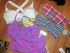 5 girls bras ~ sport & tube bandeau ~ size 34 10/12/14  Fruit of the loom LEI