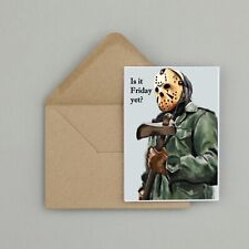 Recycled Hand Made Card Jason Vorhees Friday The 13th Inspired Birthday Card