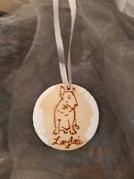 Personalised English Bull terrier dog,family,baby's first Tree Decoration Bauble