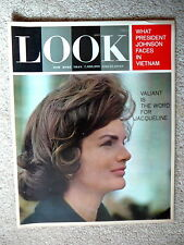 LOOK  MAGAZINE - JANUARY 28 1964 - JACKIE KENNEDY  - JOHNSON & VIETNAM  - MINTY
