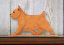 Norwich Terrier Sign Plaque Wall Decor Red