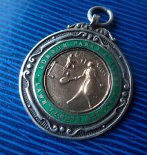 Stg Silver , Enamel & Gold Medal Brooch 1930 London Parks & Clubs Lawn Tennis