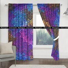 Indian Cotton Curtain Multi Star Print Mandala Window Treatment Hanging Drapes