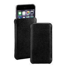 """Leder Tasche schwarz für Apple iPhone 6s Plus 6s+ (5,5"""") Etui Hülle Case black"""