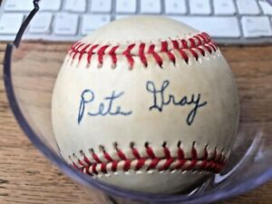 Pete Gray Signed Baseball PSA/DNA Verified