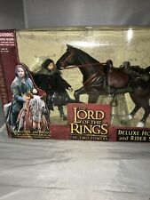 Lord of the Rings The Two Towers ARAGORN BREGO Deluxe Horse and Rider Set Toybiz