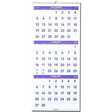 2022 At A Glance Pm11 28 3 Month Wall Calendar 12 14 X 27