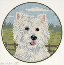 Anchor - West Highland Terrier - Kit Ricamo per la 1/2 punto croce su tela