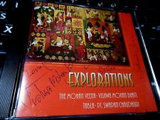 Explorations  Mohan by Vishwa Mohan Bhatt & PT. Swapan Chaudhuri CD AUTOGRAPHED!