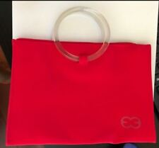 cosmetics bag red escada