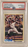 JERRY KOOSMAN 1978 Topps Signed Autographed Baseball Card PSA/DNA #565 NY Mets