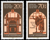 EBS East Germany DDR 1988 - Leipzig Spring Fair - Michel 3153-3154 MNH**