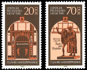 EBS East Germany DDR 1988 - Leipzig Spring Fair - Michel 3153-3154 MNH**
