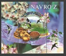 UZBEKISTAN 2020 NOWRUZ HOLIDAY FLOWERS BIRDS SOUVENIR SHEET OF 1 STAMP MINT MNH