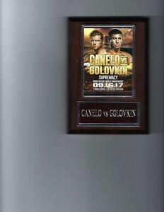 CANELO ALVAREZ vs GENNADY GOLOVKIN BOXING PLAQUE