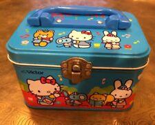 Vintage Rare Hello Kitty Lunch Money Storage Box Tin Sanrio 1976-1986 Japanese