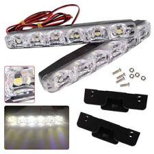 2X White 12V 6 LED Daytime Running Light DRL Car Fog Day Driving Lamp Lights Kit