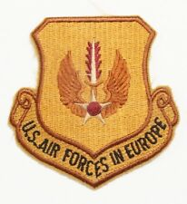 """USAF Air Force Patch: U.S. Air Forces in Europe - 3"""", copper color"""