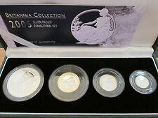 2005 SILVER PROOF BRITANNIA 4 COIN COLLECTION - 2360 sets great investment