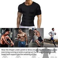 h8 Men Slim Fit Body Shaper  Corrector Vest Abdomen Compression T-Shirt