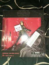"""~NEW~ Star Wars Black Series 6"""" Sergeant Jyn Erso Eadu Deluxe Figure w/Base"""