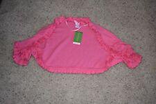 Lilly Pulitzer Hotty Pink Phoebe Ruffle Shrug Sweater Size M/L NEW