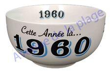 Bol année de naissance 1960 en grès - idée cadeau anniversaire neuf