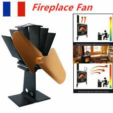 Ventilateur poêle à chaleur à 502 lames de cheminée à poêle alimenté la chaleur