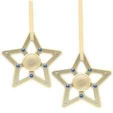 (cantidad 2) matashi 24k Oro Plateado Estrella Spinner ornamento de Navidad con cristales
