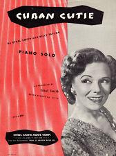 CUBAN CUTIE Music Sheet-1950-Piano Solo-BILLY TAYLOR/ETHEL SMITH-CUBA