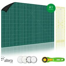 Schneidematte-Set  Profi A1 (60x90cm) beiseitig Grün-Schwarz mit Rollschneider i