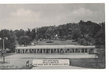 Nity-Nite Motel Zanesville Ohio Vintage Postcard Black White Dexter Press,Inc