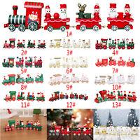 Mini Wooden Christmas Toy Train Model Decor Vehicle Holidy Festive Kids Toy Gift