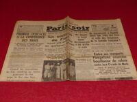 [PRESSE WW2 AVANT GUERRE] PARIS-SOIR #4336 18 AOUT 1935 Haile Selassie Ethiopie