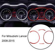 Red Carbon Fiber Speedometer Panel Decorative Cover Trim For Mitsubishi Lancer