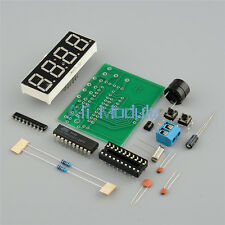 New 4 Bits Digital AT89C2051 Electronic Clock Production Suit Set DIY Kit MO