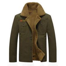 New Men's Winter Military thick lapel Denim Jacket uniforms Air Force Male Coat