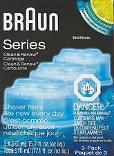 Braun CCR3 Clean and Renew System Cartridges Refills Series 3 5 7 Shaver, 3 Pack