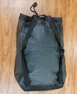 "NEW TUSA Mesh Scuba Dive Shoulder Bag Backpack (Black) 22"" x 26"" x 12"""