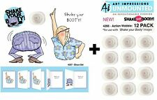 Art Impressions Shaker Stamps & Action Wobbles - Disco Set - Dancing