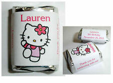 60 HELLO KITTY BIRTHDAY PARTY CANDY WRAPPERS LABELS FAVORS