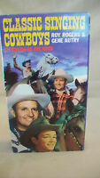 Classic Singing Cowboys 1994 VHS Tape, Gene Autry, Roy Rogers & More