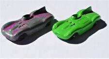 RESTORER Lot-2 Vintage Diecast Toy Tootsietoy #2 Jaguar Race Car 1purple/1Green