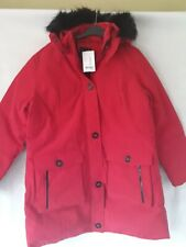 Ladies Size 16 Red Shower Resistant Hooded Coat New From Next